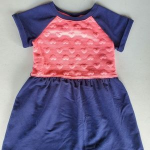 Girls' Two-Tone Heart Dress